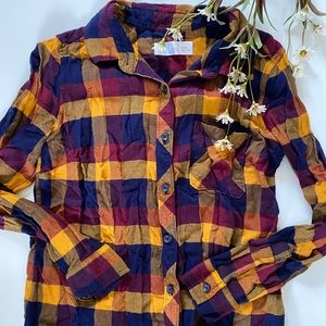 Time and Tru Plaid Blouse